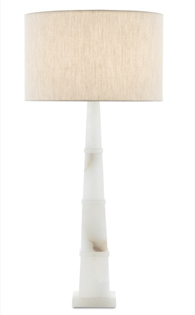 The Alabastro Table Lamp, new from Currey & Company.