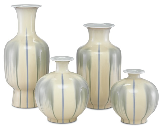 The Kara and Karoo vases, new from Currey & Company.