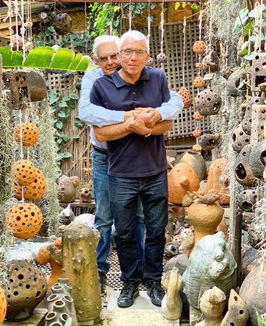 Jean-Charles and Robert Currey, who is also passionate about what it means to be a merchant, sourcing handicrafts in Asia.