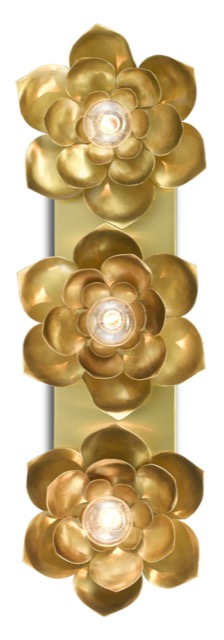 The Currey & Company Blossom Three-Light Sconce is one of Teresa Davis' favorites.