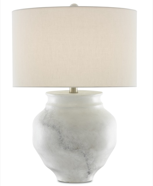 The Kalossi Table Lamp by Currey & Company is beautiful when illuminated.