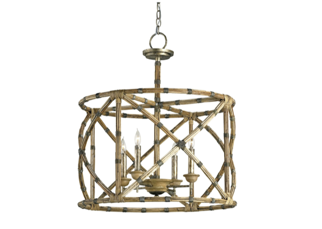 Palm Beach Lantern by Currey & Company made of arurog that is sustainable