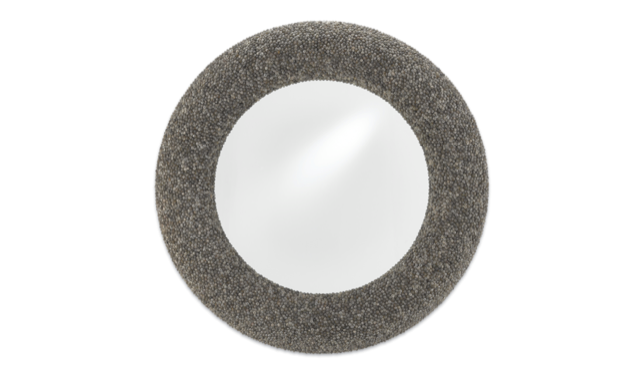 Batad Shell Round Mirror by Currey & Company, shells are sustainable