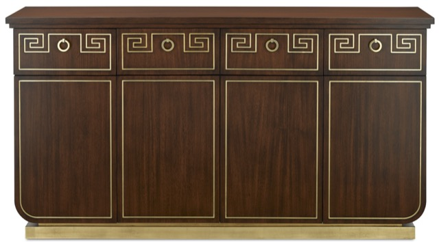 The Zoe Credenza with a Greek Key motif by Barry Goralnick for Currey & Company