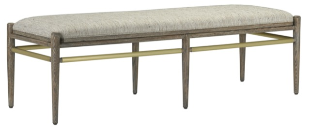 Visby Bench in Pepper finish by Currey & Company, a favorite of sales rep Andrea Combet