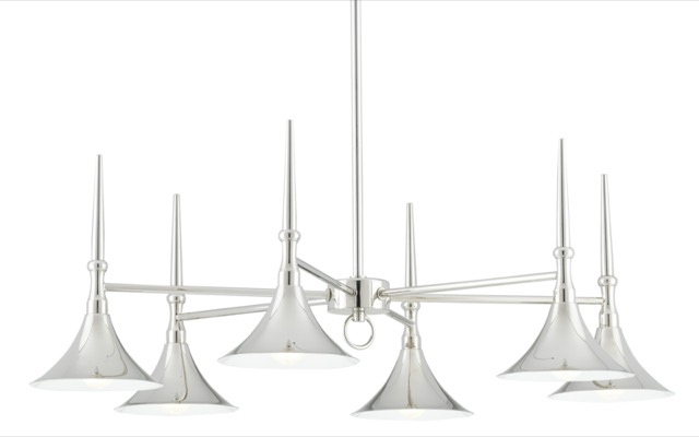 Julian Chandelier designed by Barry Goralnick for Currey & Company.