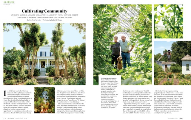 Robert and Suzy Currey featured in Flower Magazine.