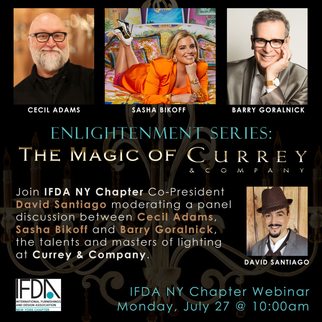 Currey & Company participates in the Enlightenment Series