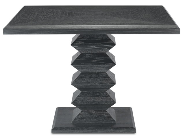 Sayan Black Dining Table by Currey & Company