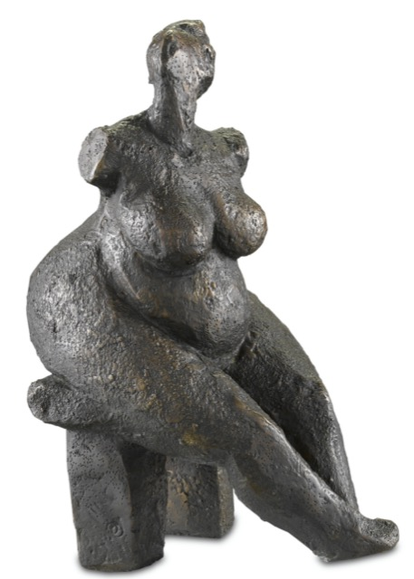 The Currey & Company Lady Dreaming Bronze.