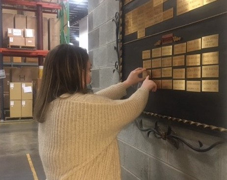 Lucy Roche, Currey & Company's Purchasing Coordinator.