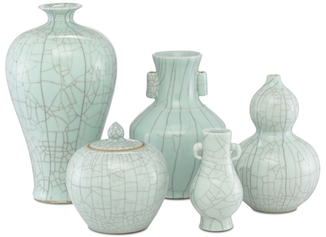The Maiping Collection by Currey & Company, made of porcelain.