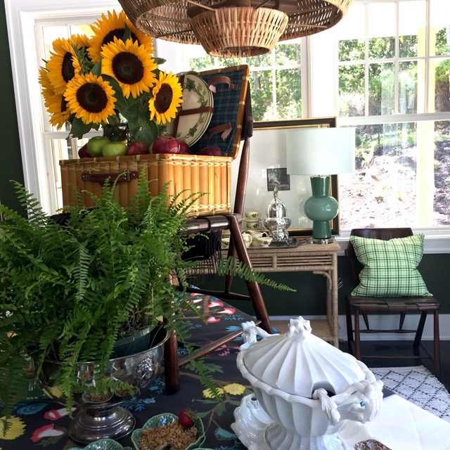 A luminous vignette from Scot's space at the Hamptons Designer Showhouse. Image courtesy SMW Home.