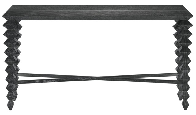 Saranya Black Console Table by Currey & Company, a favorite product pick of one of two reps.