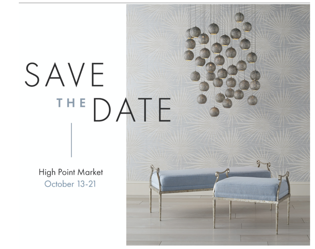 Currey & Company High Point showroom will be open to designers in October.
