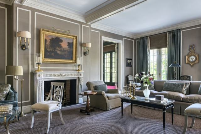 A living room filled with beauty that was designed by Matthew Patrick Smyth and featured in his latest book.