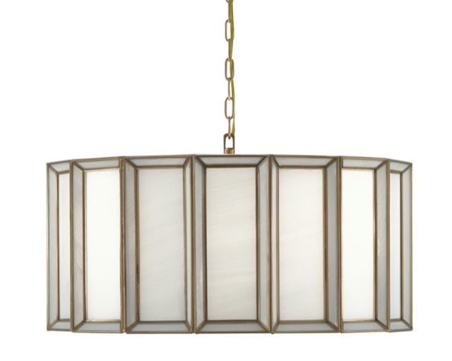 The Currey & Company Daze Large Pendant joins other fixtures in this family of lights.