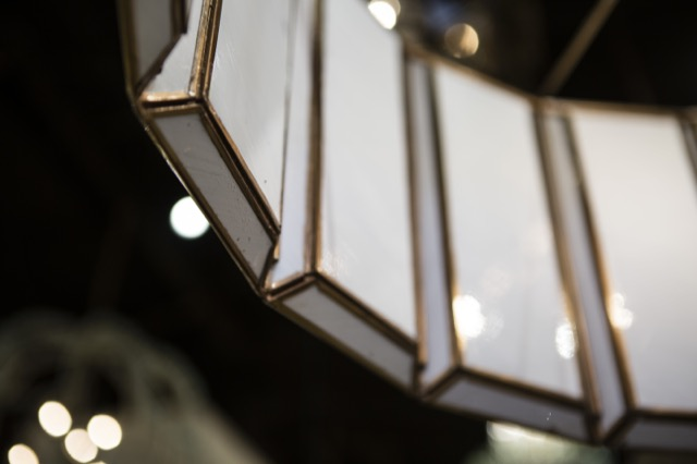 A detail shot of the Currey & Company Daze Large Chandelier.
