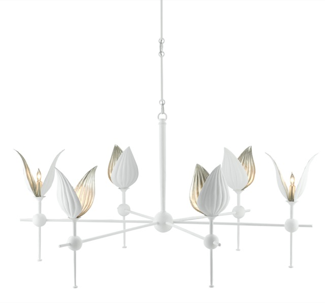 Our Peace Lily Chandelier for designers who love bringing floral motifs into interiors.