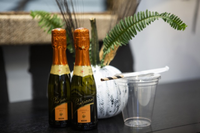 Prosecco will be served in the Currey & Company Showroom during Market.
