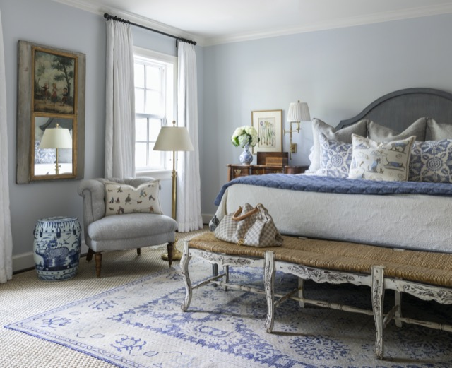 A lovely bedroom designed by Lucas Eilers in their new book Expressive Interiors. Photo credit: Julie Soefer.