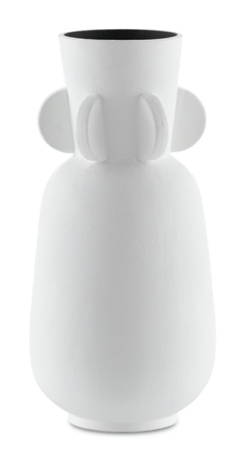 The Happy 40 Wings White Vase, on of Currey & Company's modern introductions.