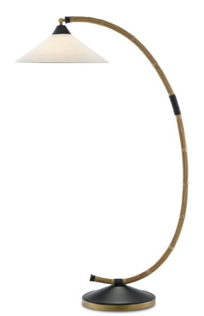The Lisbon Floor Lamp by Currey & Company is a nod to seafaring traditions.