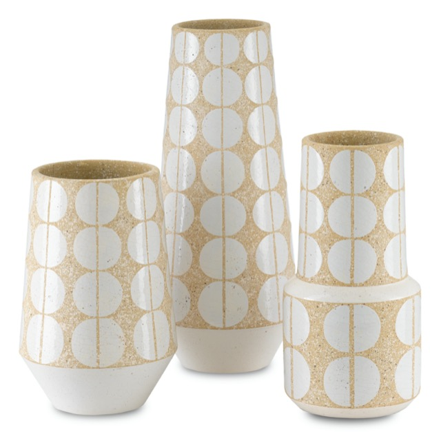 The Happy 60 vases, new from Currey & Company this fall.