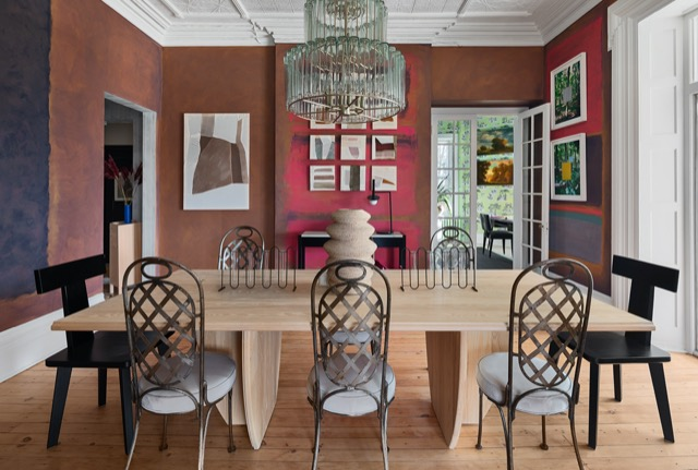 The Hendley & Co. dining room in the Kingston Design Showhouse. Photo by Ariel Camilo.