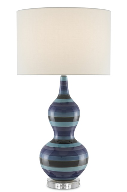 The Currey & Company Willis Table Lamp, a perfect blue Christmas gift.