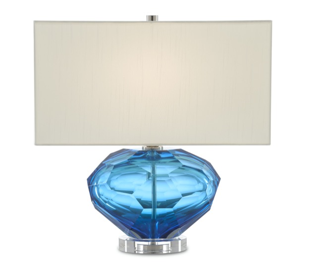 The Currey & Company Fitzwater Table Lamp, a perfect blue Christmas gift.