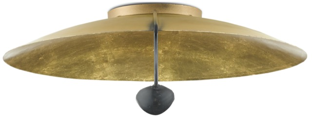 The Pinders Flush Mount by Currey & Company.