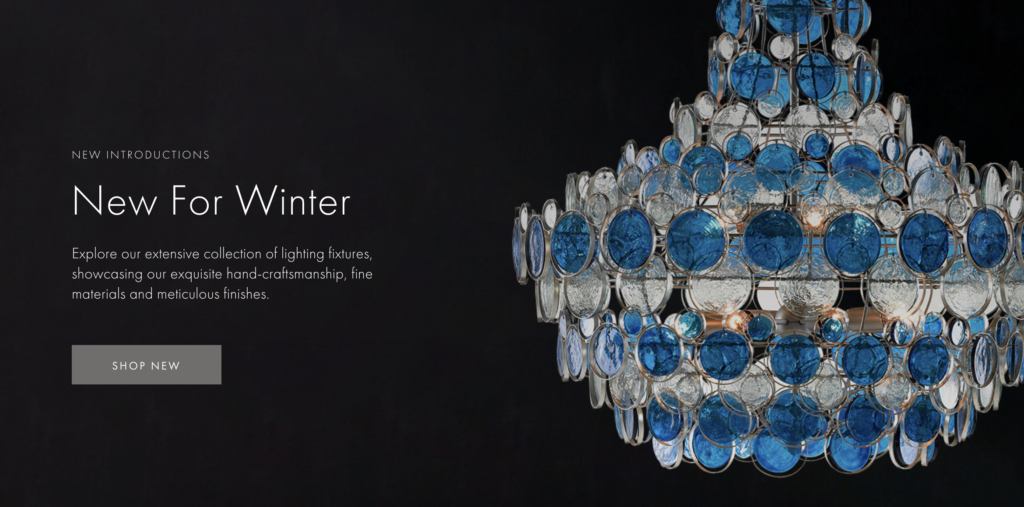 Currey & Company New Winter Products Visual