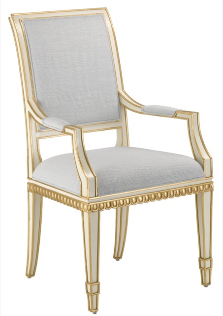 Ines Mist Ivory Chair by Currey & Company