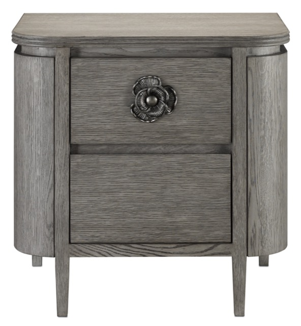 The Currey & Company Briallen Gray Nightstand