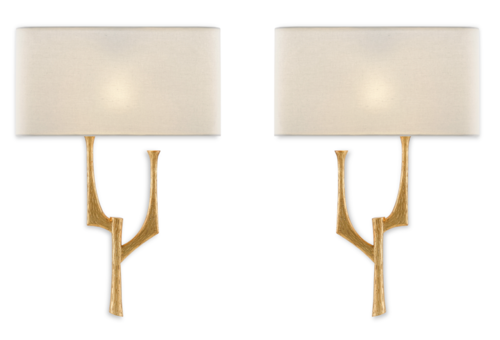 Currey & Company's Bodnant Right and Left Wall Sconces are among our new winter products