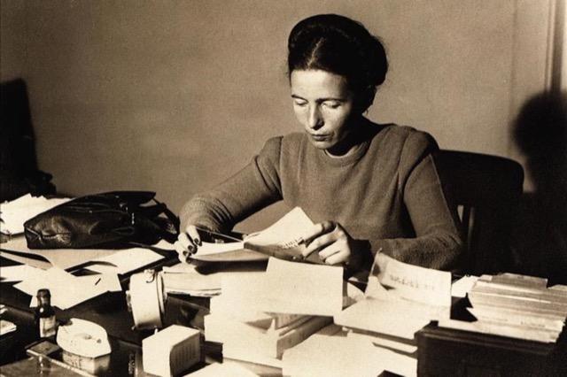 Simone de Beauvoir. Image public domain.