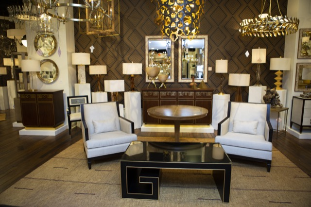 The Currey & Company High Point showroom is open for First Tuesday events.