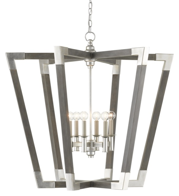 The Bastian Large Gray Chandelier is Tom's pick for our Designer Roundtable.