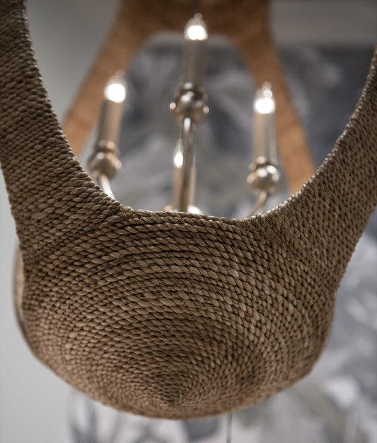 A detail of the rope-wrapped Menorca illustrating its high quality.
