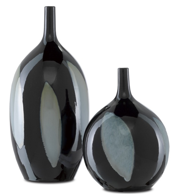 Let Us Twist the Glass Black Vases are among our dark and dreamy furnishings.