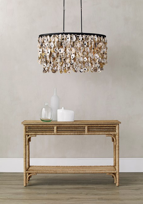 Currey & Company created the Stillwater Oval Chandelier shown here.
