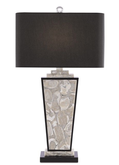 The Currey & Company Patrova is an Oyster Shell Table Lamp.