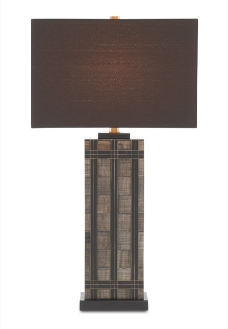The Gregor Table Lamp is among Currey & Company's dark and dreamy furnishings.