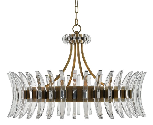 The Coquette Chandelier by Currey & Company.