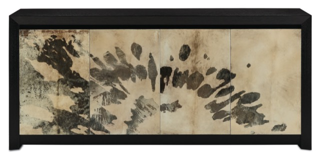 The Karlson Credenza by Currey & Company is an example of our dark and dreamy furnishings