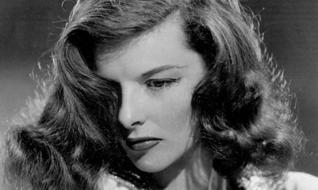 Katherine Hepburn takes her closeup. Image in public domain.