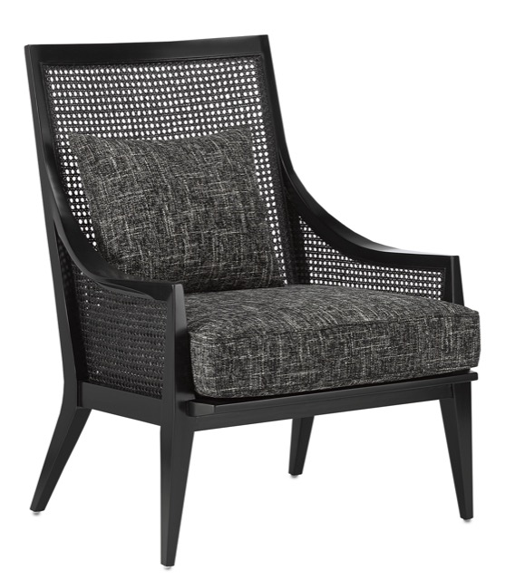 The Currey & Company Teagan Onyx Chair is an example of our dark and dreamy furnishings