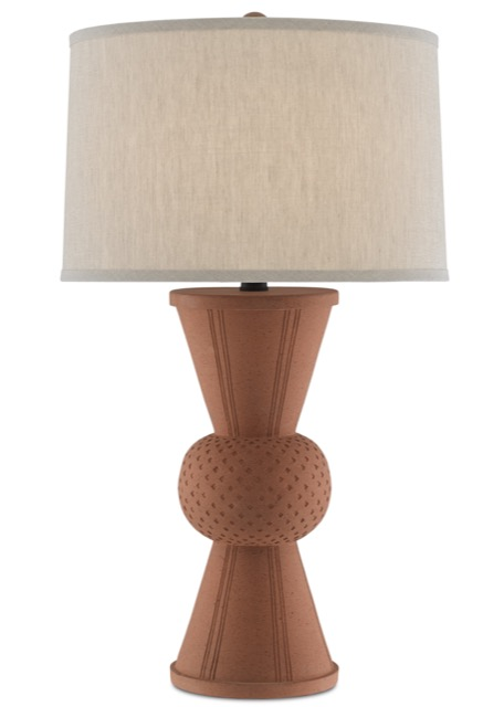 The Brigade Table Lamp by Currey & Company fits well in the Mesa trend