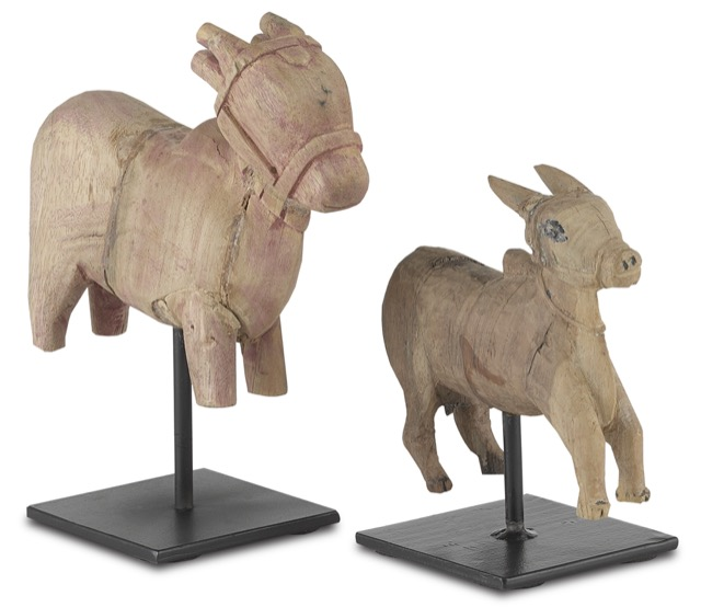 The Currey & Company Nandi Cow Set